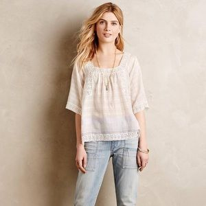 Anthropologie | Holding Horses Shani Peasant Top